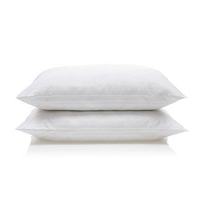 Downland Soft To Touch Satin Stripe Pillow (Pair)