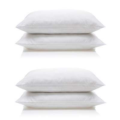 Downland Soft To Touch Satin Stripe Pillow (4 Pack)