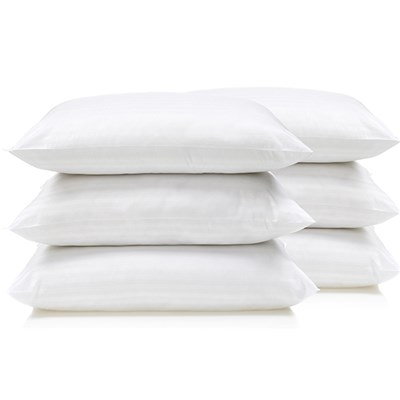 Downland Soft To Touch Satin Stripe Pillow (6 Pack)