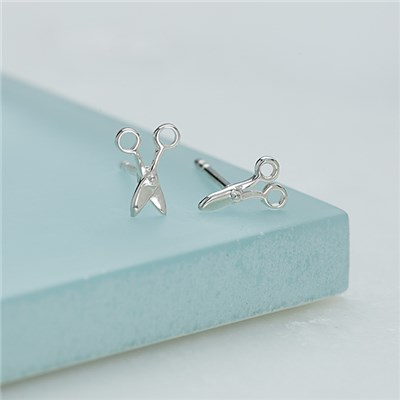 Lily Charmed Sterling Silver Scissors St