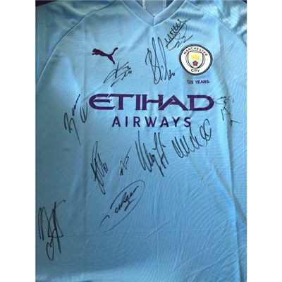 Manchester City FC Multi Signed Football Shirt