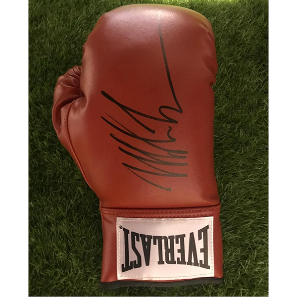 Iron Man Mike Tyson Personally Signed Boxing Glove No Colour