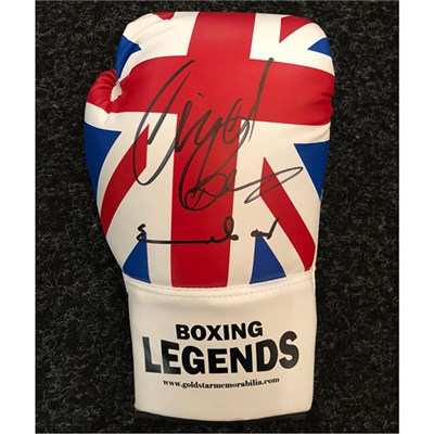 Chris Eubank & Nigel Benn Double Personally Signed Boxing Glove