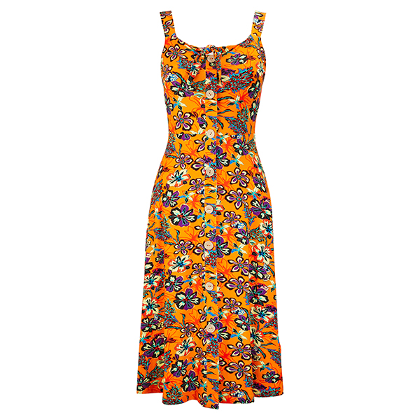Joe Browns Fun & Free Dress Orange Multi