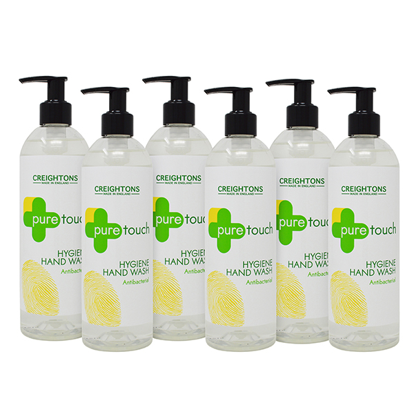 6 x Pure Touch Antibacterial Hand Wash 400ml No Colour