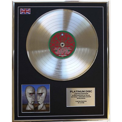 Pink Floyd - Division Bell Framed & Mounted CD Platinum Disc Limited Edition of 50 Only