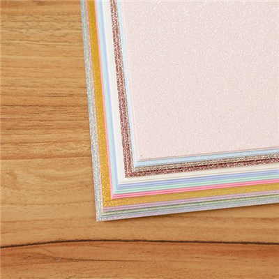 Kanban Luxury Assorted Glitter, Glimmer and Core A4 Cardstock Pack - 24 Sheets
