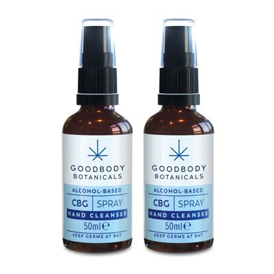 Goodbody Hemp and Aloe Vera Moisturising Hand Cleansing Spray Twin Pack 50ml