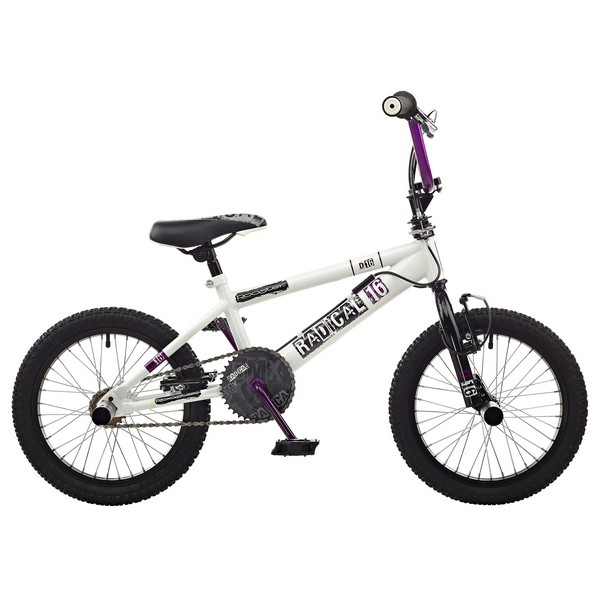 Rooster Radical Single Speed BMX, 16in Wheel, White/Black No Colour