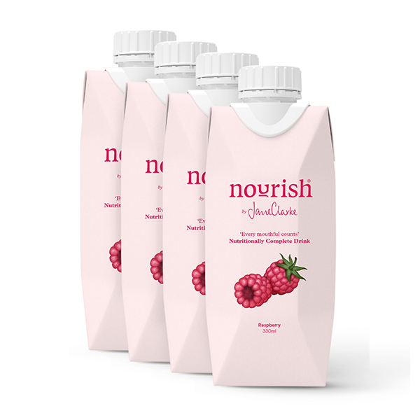 Nourish by Jane Clarke Natural Meal Replacements - 4 Meals Raspberry