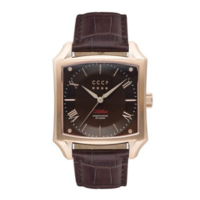 CCCP Gents Spasskaya Automatic Watch with Genuine Leather Strap