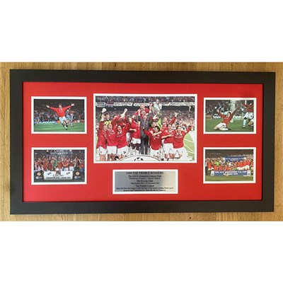 1999 Treble Winners Unsigned Manchester United Montage