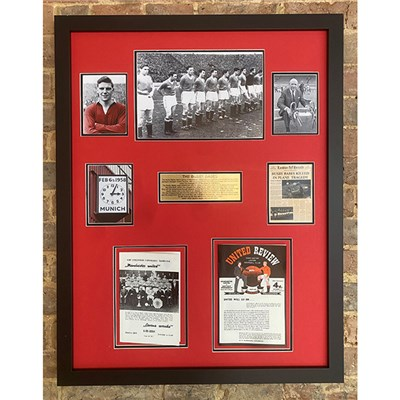 Busby Babes 1958 Manchester United Programme Montage - Unsigned
