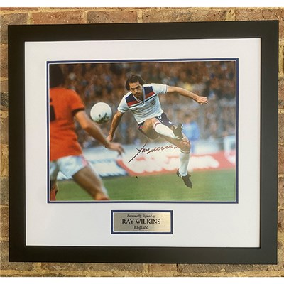 Ray Wilkins Signed England Photo