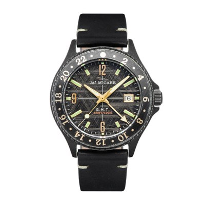 James McCabe Gents Baja GMT Watch with Genuine Leather Strap