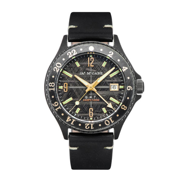 Image of James McCabe Gents Baja GMT Watch with Genuine Leather Strap