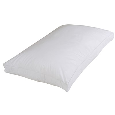 Downland Standard White Goose Feather and Down Box Pillow