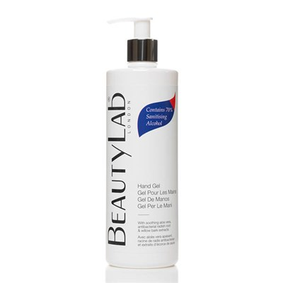 BeautyLab Hand Gel with 70% Sanitising Alcohol and Aloe Vera 500ml