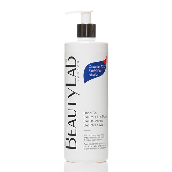 Image of BeautyLab Hand Gel with 70% Sanitising Alcohol and Aloe Vera 500ml