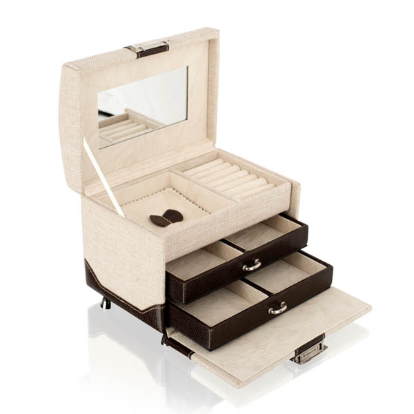 Image of Leather Jewellery Travel Case