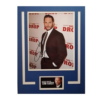 Tom Hardy Mounted Photo & Personal Signature Display