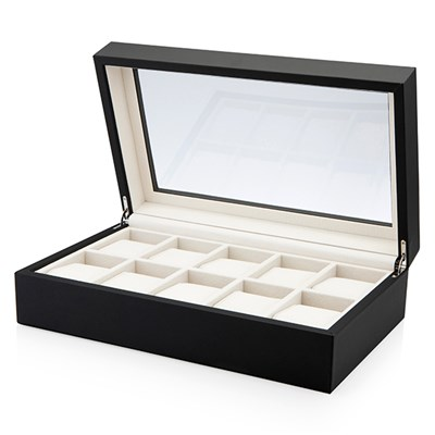 Collectors 10 Slot Watch Box