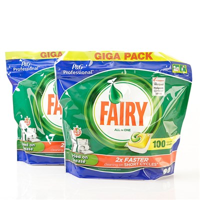 Fairy All-in-One Lemon Dishwasher Tablets - 100 Pieces Twin Pack