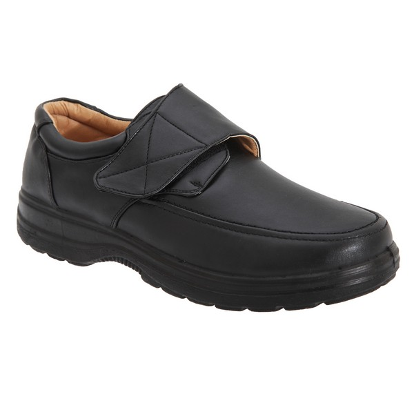 Smart Uns Mens Touch Fastening Casual Shoes Black