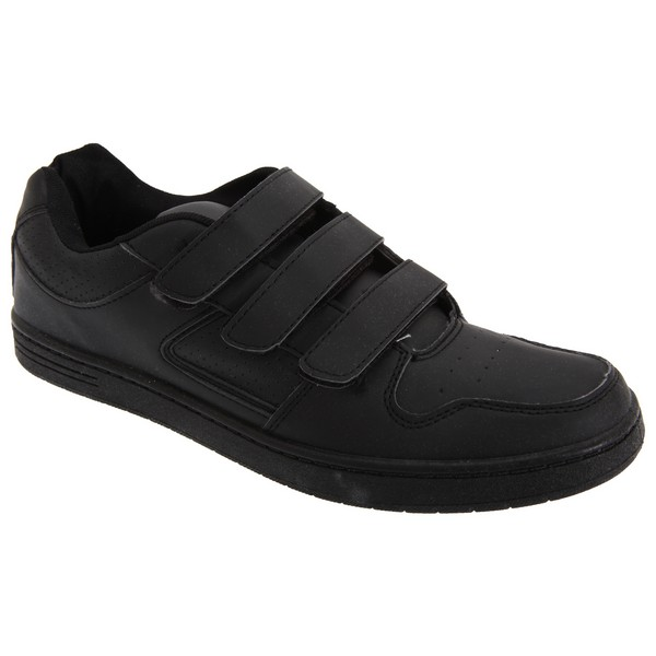 Dek Mens Charing Cross Touch Fastening Trainers Black