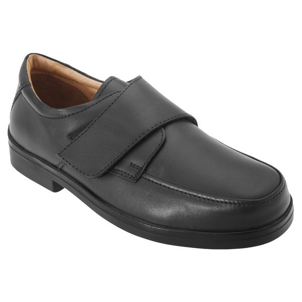 Roamers Mens Extra Wide Fitting Touch Fastening Casual Shoes Black