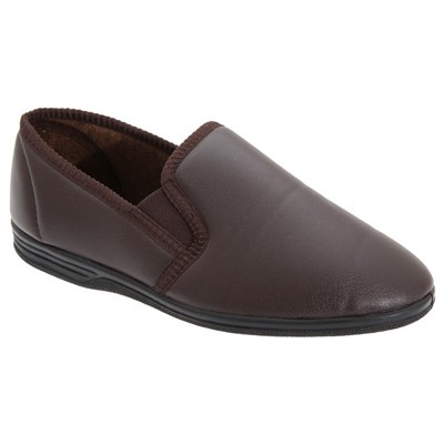 Zedzzz Mens Ivor Grain Upper Twin Gusset Slippers