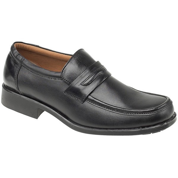 Amblers Manchester Leather Loafer / Mens Shoes Black