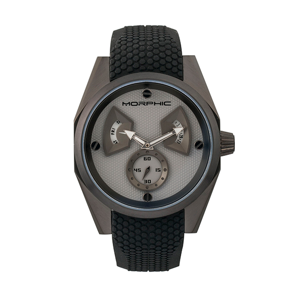 Morphic Gents M34 Series Watch with Silicone Strap Black