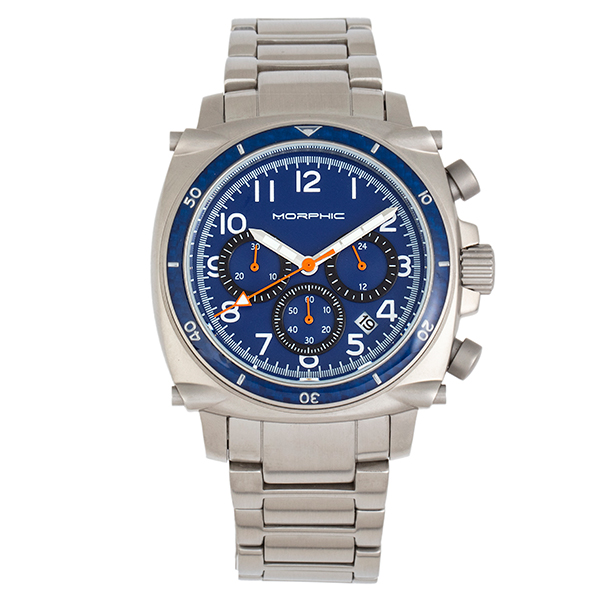 Morphic Gents M83 Series Watch with Stainless Steel Bracelet Blue