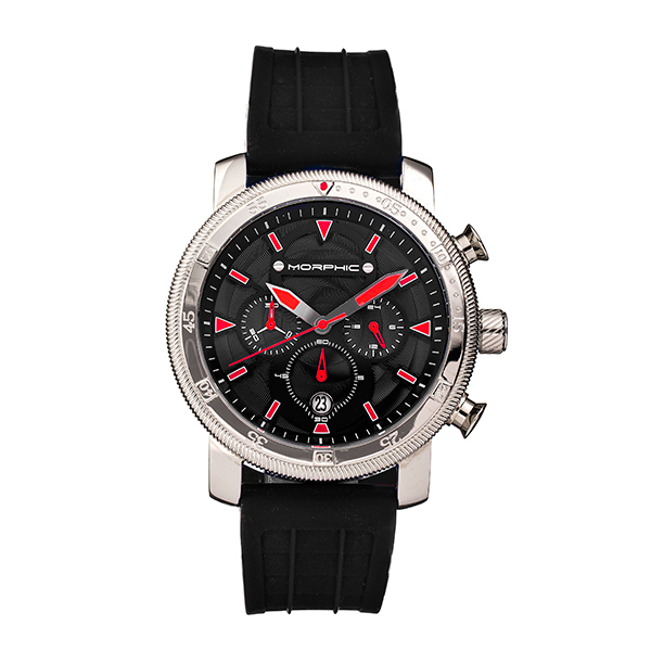 Morphic Gents M90 Series Watch with Silicone Strap Red
