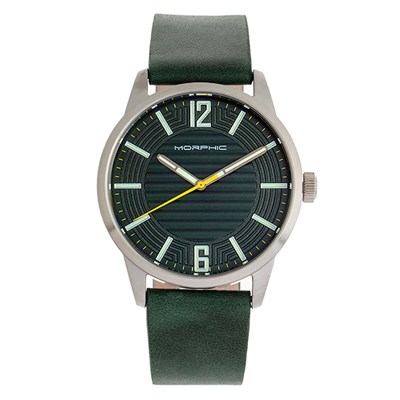 Morphic Gents M77 Series Watch with Genuine Leather Strap