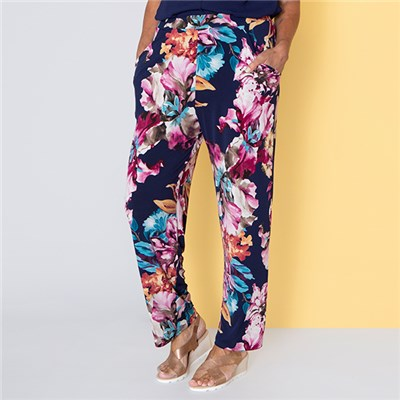 Nicole Print Pocket Trouser