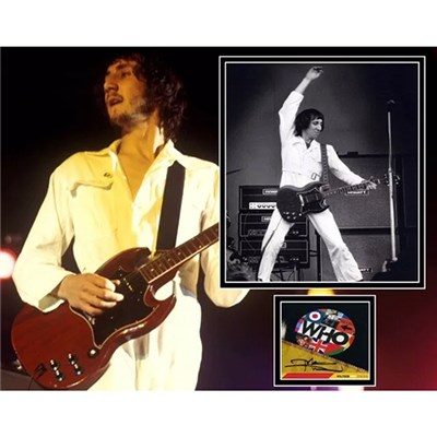 The Who Pete Townshend Mounted Photo Montage and Personal Signature