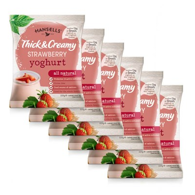 Hansells Thick and Creamy Yoghurt Sachets x 6