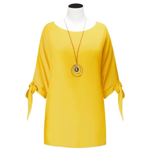 Joe Browns Flowing Top With Necklace Yellow