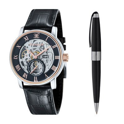 Thomas Earnshaw Gents Westminster Automatic Watch, Genuine Leather Strap