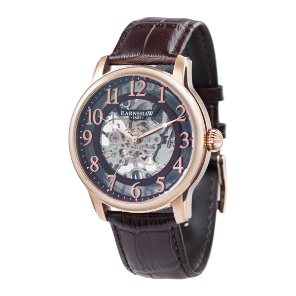 Thomas Earnshaw Gents Longitude Skeleton Rose Gold
