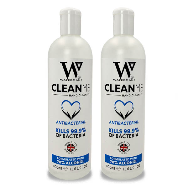 Watermans Clean Me Hand Sanitiser Twin Pack (2 x 400ml) No Colour