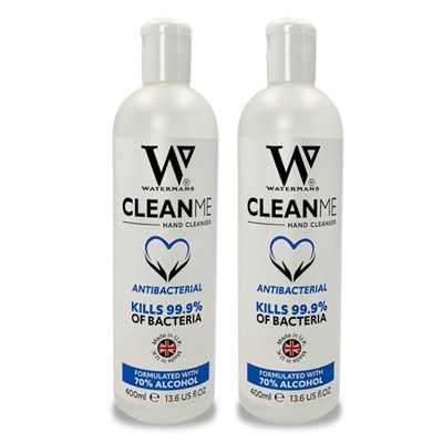 Watermans Clean Me Hand Sanitiser Twin Pack (2 x 400ml)