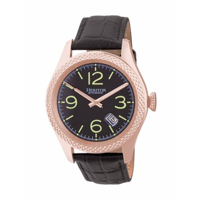 Heritor Gents' Automatic Barnes Watch with Genuine Leather Strap