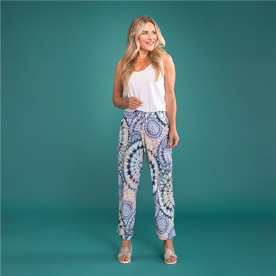 Kasara Print Cuffed Trouser with Pockets
