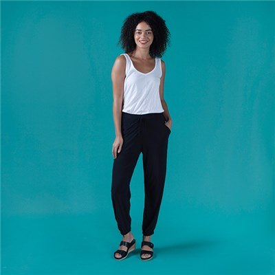 Kasara Plain Cuffed Trouser with Pockets