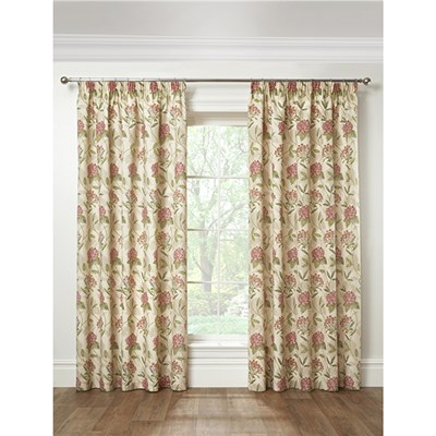 Harmony Pencil Pleat Printed Half Panama Curtains - 90 Inches