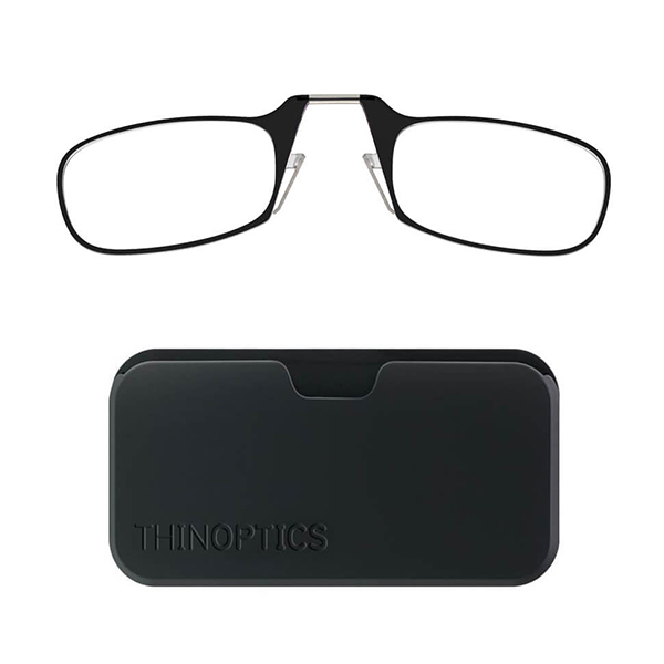 ThinOptics Universal POD Reading Glasses (Strength +1, +1.5, +2, +2.5,) Black