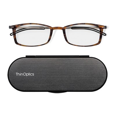 ThinOptics Brooklyn Reading Glasses in Case (Strength +1.5, +2, +2.5)